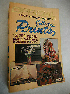 Vintage OFFICIAL PRICE GUIDE TO COLLECTOR PRINTS Book Antique Picture Values
