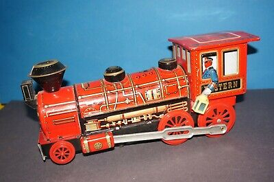 "RFB-1478] Trade Mark Modern Toys Blechlokomotive "" WESTERN "" Made in Japan"