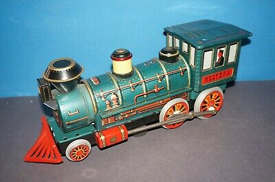 "RFB-4136] Trade Mark Modern Toys Blechlokomotive "" WESTERN "" Made in Japan"