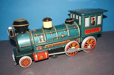 "RF2-17-601] Trade Mark Modern Toys Blechlokomotive "" WESTERN "" Made in Japan"