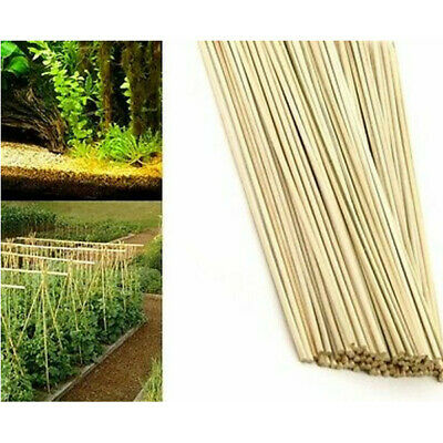 100 x 40cm Bamboo Wooden Plant Sticks Garden Plants Support Canes Flower Cane