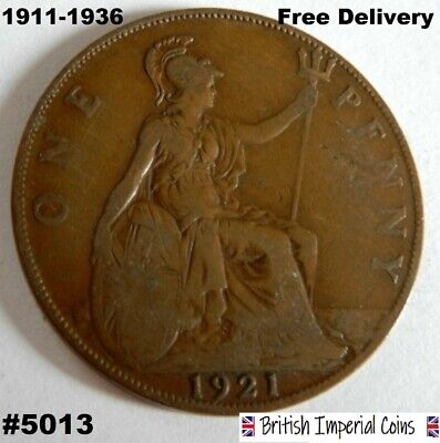 1911-1936 One Penny - George V - Pick The Year | British Imperial Coins (#5013)