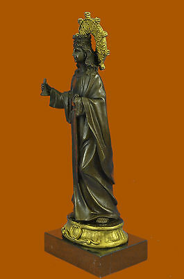 Saint Barbara: Medieval Bronze Sculpture,Dresses 15Th, Century Statues, Handmade