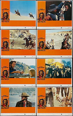 THE OUTLAW JOSEY WALES orig lobby card set CLINT EASTWOOD 11x14 movie posters
