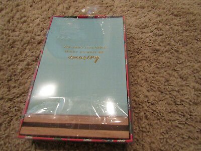 Vera Bradley Day Maker Quote Cards In Wooden Stand -set of 12 cards  NIB!!!
