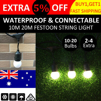 10-20PCS LED Festoon Globe String Lights Christmas Home Party Outdoor Waterproof