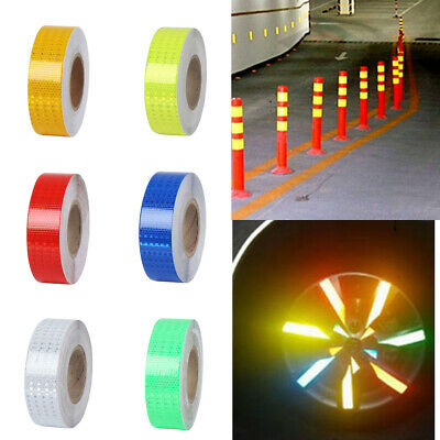 Night Reflective Safety Warning Conspicuity Roll Tape Film Sticker Safety Signs