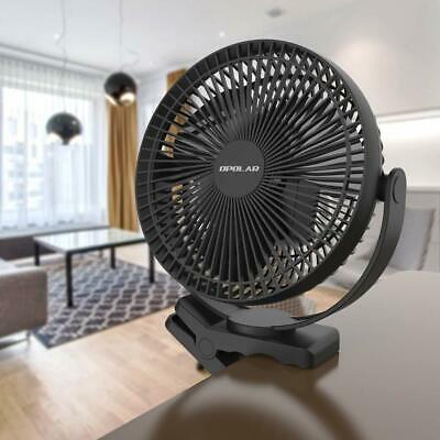 10000mAh 8-Inch Rechargeable Battery Operated Clip on Fan, 4 Speeds Fast
