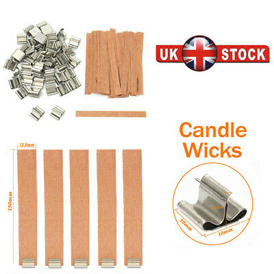 50 Pcs Wood wick- Genuine Wooden Wicks for Candle Making DIY Candle Making Tools