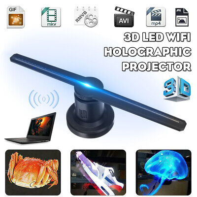 3D LED WiFi Holographic Projector Display Fan 32G TF Hologram Advertising Player