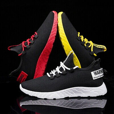 Mens Sneakers Trainers Breathable Lightweight Sports Running Shoes UK Size 5.5-9