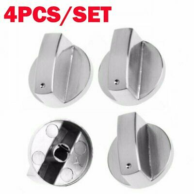 4 x 6mm Universal Home Kitchen Gas Cooker Oven Stove Knobs Control Rotary Switch