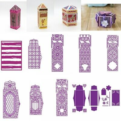 3D Boxes Panels Metal Cutting Dies Stencil Scrapbooking DIY Paper Card Handcraft