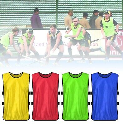 Football Play Bibs Training shirts Sports Youth Adult kids Sizes Rugby Hockey