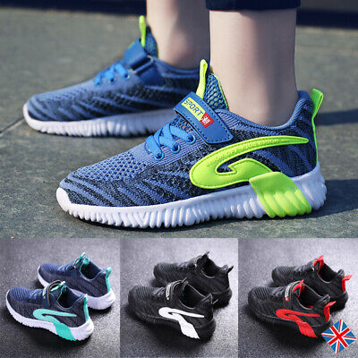 Kids Children Trainers Boy Casual Running Athletic Shoes Sneaker Mesh Breathable