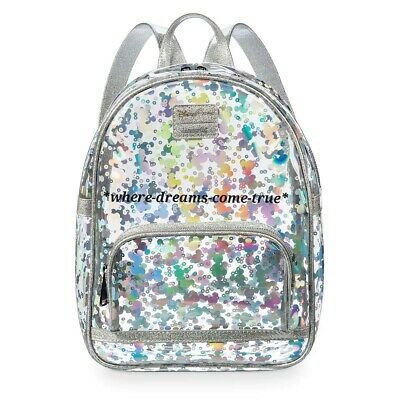 Disney Parks Mickey Mouse Magic Mirror Metallic Mini Backpack by Loungefly (NEW)