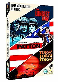 The Longest Day/Patton/Tora! Tora! Tora! (DVD, 2006, 3-Disc Set, Box Set)