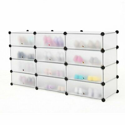 12 Cube DIY Wardrobe Cupboard Closet Cabinet Organizer Storage Multifunctional