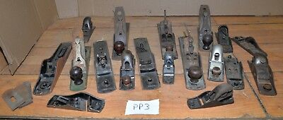 Stanley & more collectible planes part & repair woodworking tool lot vintage PP3