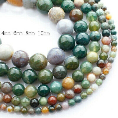 New round Crystal natural stone Bracelet india agate jewelry making agate beads