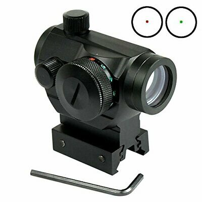 RioRand tactical Reflex Red Green Dot Sight Scope w Dual High  Low Profile Ra...