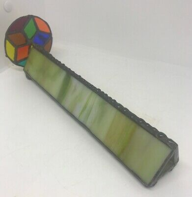 Gorgeous Antique Victorian Kaleidoscope - Metal And Slag Glass. 11 Inches Long