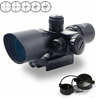 RioRand 2 5-10x40 Tactical Rifle Scope Red & Green Sight Dual Illuminated Mil...