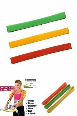3 Pack Power Resistance Band Fit Upper Body Wonder Arm Workout Fitness Machine