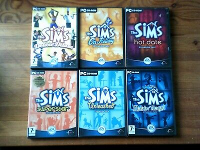 THE SIMS 1 - BASE GAME & ALL 7 EXPANSIONS - COMPLETE COLLECTION PC GAME BUNDLE d