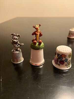 Set Of 9 Collectible Thimbles