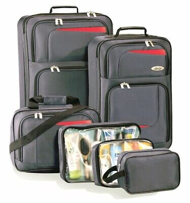 Ultralite 6-Piece Expandable Luggage Set - Charcoal Gray