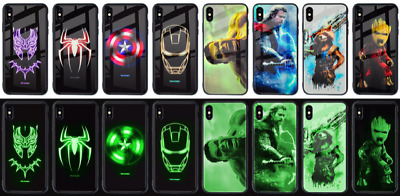 Avenger Phone Cases for iPhone Captain America Iron Man Spriderman Black Panther