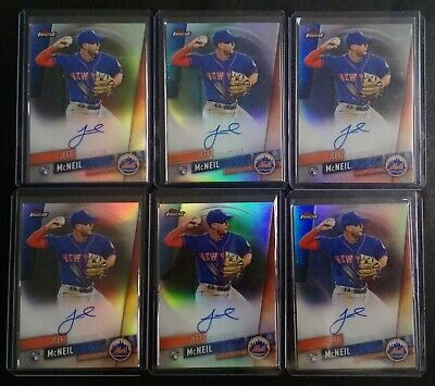 (6x) 2019 Topps Finest * Mets JEFF MCNEIL ROOKIE AUTO LOT