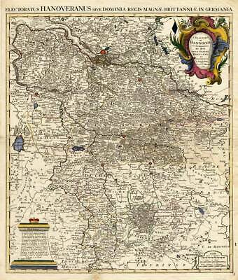 Antique Map-HANOVER-GERMANY-Covens en Mortier-1745