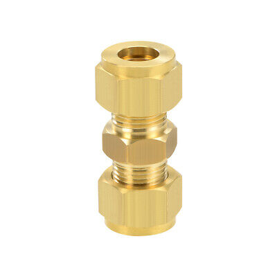 Brass Compression Tube Fitting 10mm OD Straight Pipe Adapter for Irrigation
