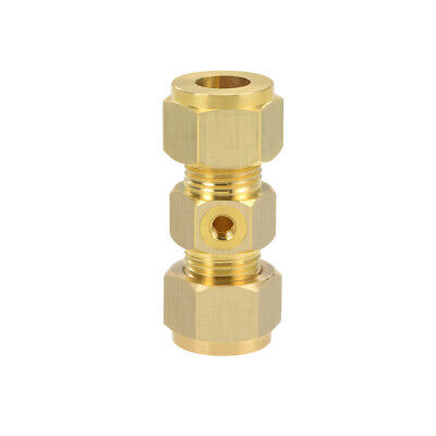 Brass Compression Tube Fitting 10mm OD Straight UNC 10-24 Hole Pipe Adapter