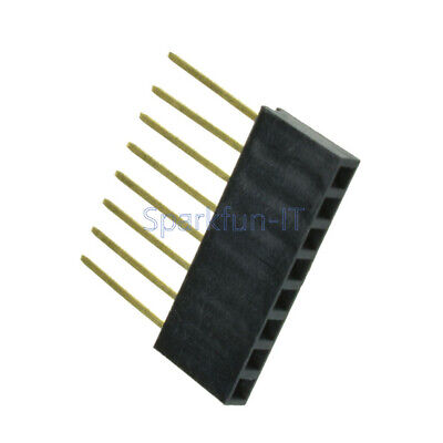 10pcs 8 Pin 2.54 mm Stackable Long Legs Femal Header For Arduino Shield NEW