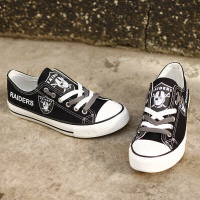 Oakland Raiders Limited Print NFL Football Fans Low Top Canvas Shoes for women