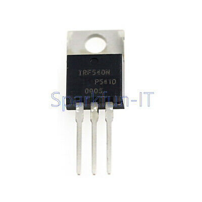 10PCS NEW IRF540N IRF540 TO-220 N-Channel 33A 100V Power MOSFET
