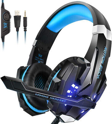 Playstation 4 PS4 Gaming Headset HD Noise Cancellation Headphones Earphones