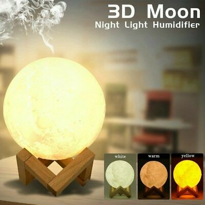 880ML Moon Lamp Light Air Humidifier Diffuser Aroma Night Cool Mist Purifier