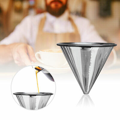 Premium Stainless Steel Coffee Filter Reusable Pour Over Coffee Dripper Cone