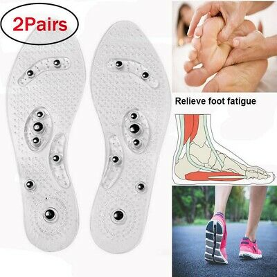 4x MindInSole Acupressure Magnetic Massage Weight Loss Therapy Slimming Insoles