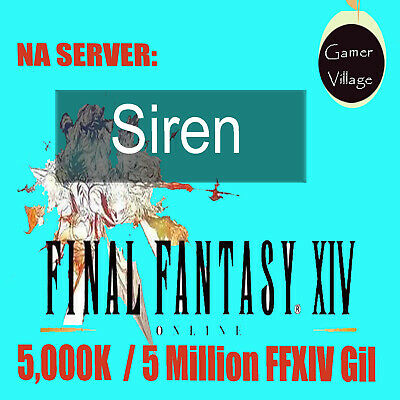 Final Fantasy 14 Gil -Cheap FFXIV GIL 5000K/5Million- FF14 Gold NA Server Siren