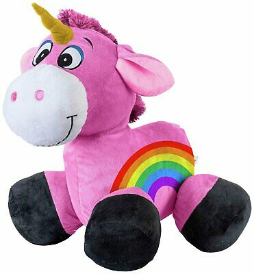Inflate-A-Mals - Inflatable Plush Unicorn Ride-On.