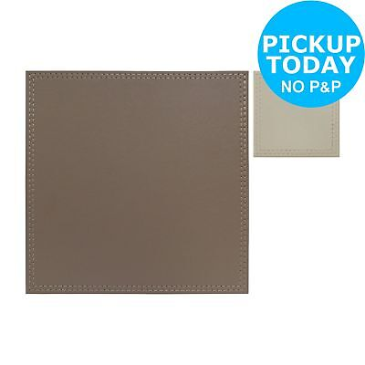 Argos Home Leather Effect Placemat and Coaster