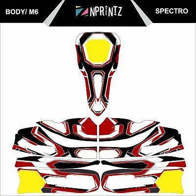 M6 Spectro Full Kart Sticker Kit To Fit M6 Body - Karting