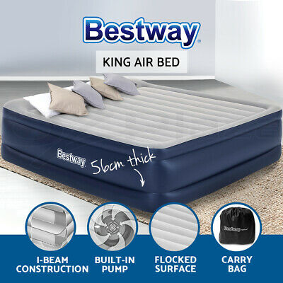 Bestway King Air Bed Air Beds Inflatable Mattress TRITECH Airbed Built-in Pump