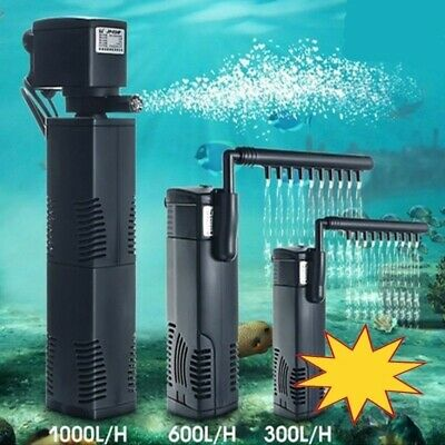 1500L Hidom Aquarium Pump Spray Bar Fish Tank Filter Filtration Submersible UK