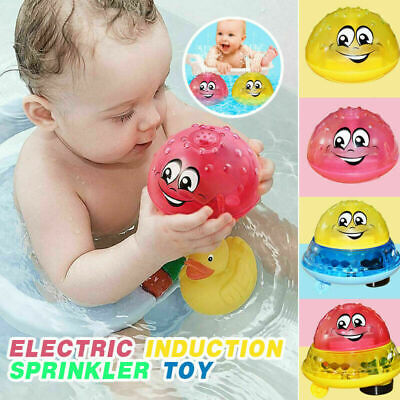 Children Electric Induction Sprinkler Water Spray Toy Light Baby Play Bath Toy